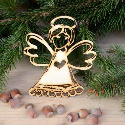 Anioł ażurowy - zimowe, świąteczne dekoracje i ozdoby