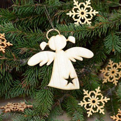 Aniołek wiszący - zimowe dekoracje i ozdoby