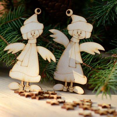 Aniołki zimowe - świąteczne ozdoby i bożonarodzeniowe dekoracje