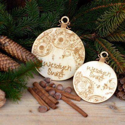 Bombki grawerowane - świąteczne dekoracje i ozdoby