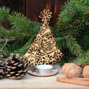 Choinka ażurowa - bożonarodzeniowe dekoracje i ozdoby