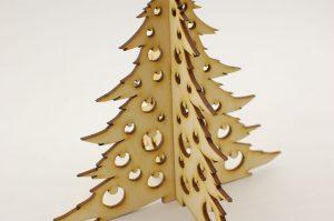 Choinka składana z bombkami - zimowe dekoracje i ozdoby
