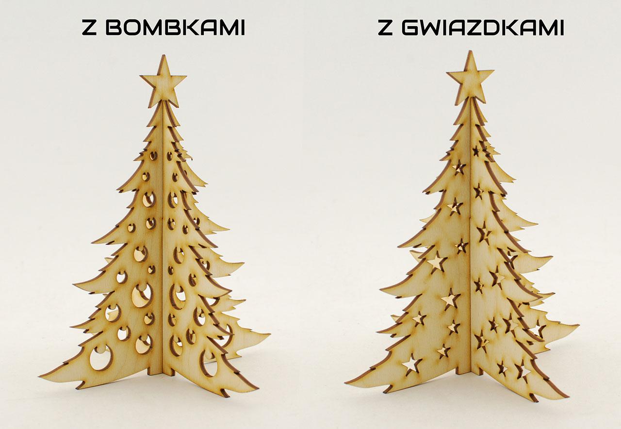 Choinka składana - zimowe dekoracje i ozdoby