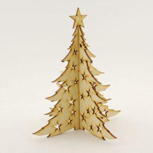 Choinka składana z gwiazdkami - zimowe dekoracje i ozdoby