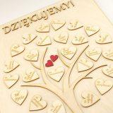 Drzewko zserduszkami - indywidualne podziękowania dla rodziców