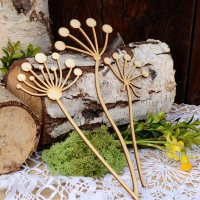 Gałązki wiosenne, dzięgiele - dekoracje i ozdoby