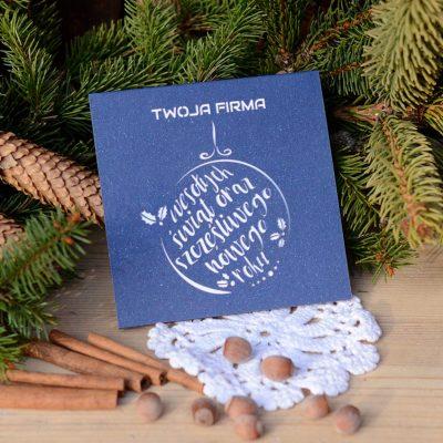 """Kartka świąteczna - """"wesołych świąt"""" - firmowe kartki świąteczne"""