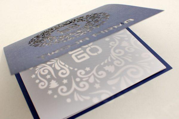 Kartka świąteczna - wianuszek - firmowe kartki świąteczne