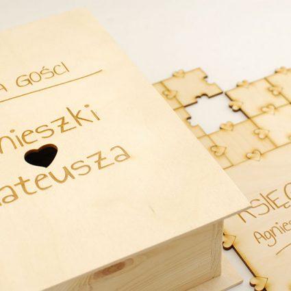Księga gości – puzzle, układanka wycinana laserowo