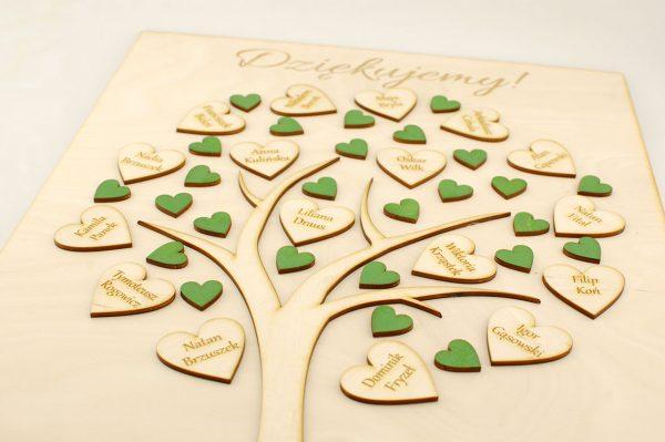 Podziękowania dla nauczycieli - drzewko z serduszkami