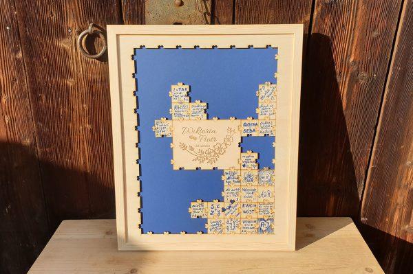 Ramka do księgi gości - puzzle
