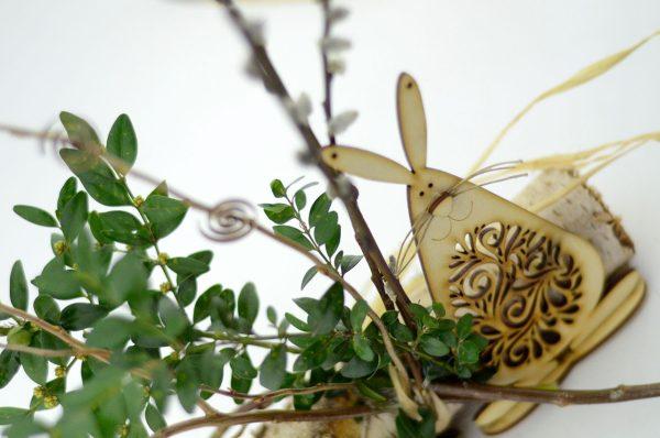 Zając ażurowy - wielkanocne dekoracje i ozdoby