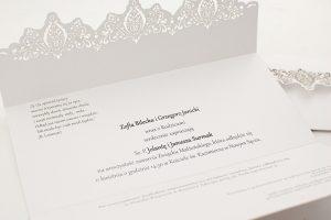 Zaproszenia ślubne wycinane laserowo - klasyczne