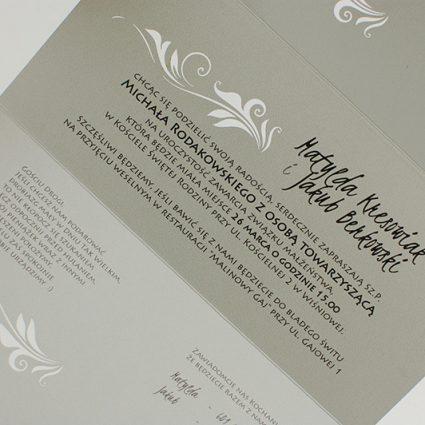 Zaproszenia ślubne wycinane laserowo - nowoczesne
