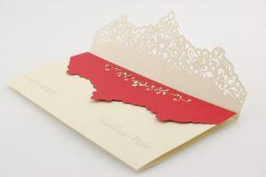 Zaproszenia ślubne z kolorową wkładką dla Karoliny i Piotra