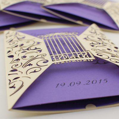 Indywidualny projekt zaproszenia ślubnego dla Dominiki i Andrzeja